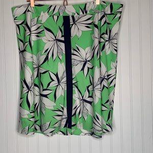 eloquii floral a-line midi skirt size 20W 20